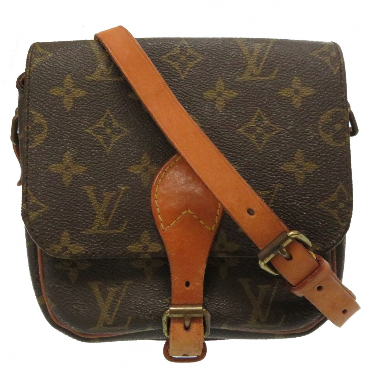 Louis Vuitton Cartouchière Brown Cloth handbag for Women \N