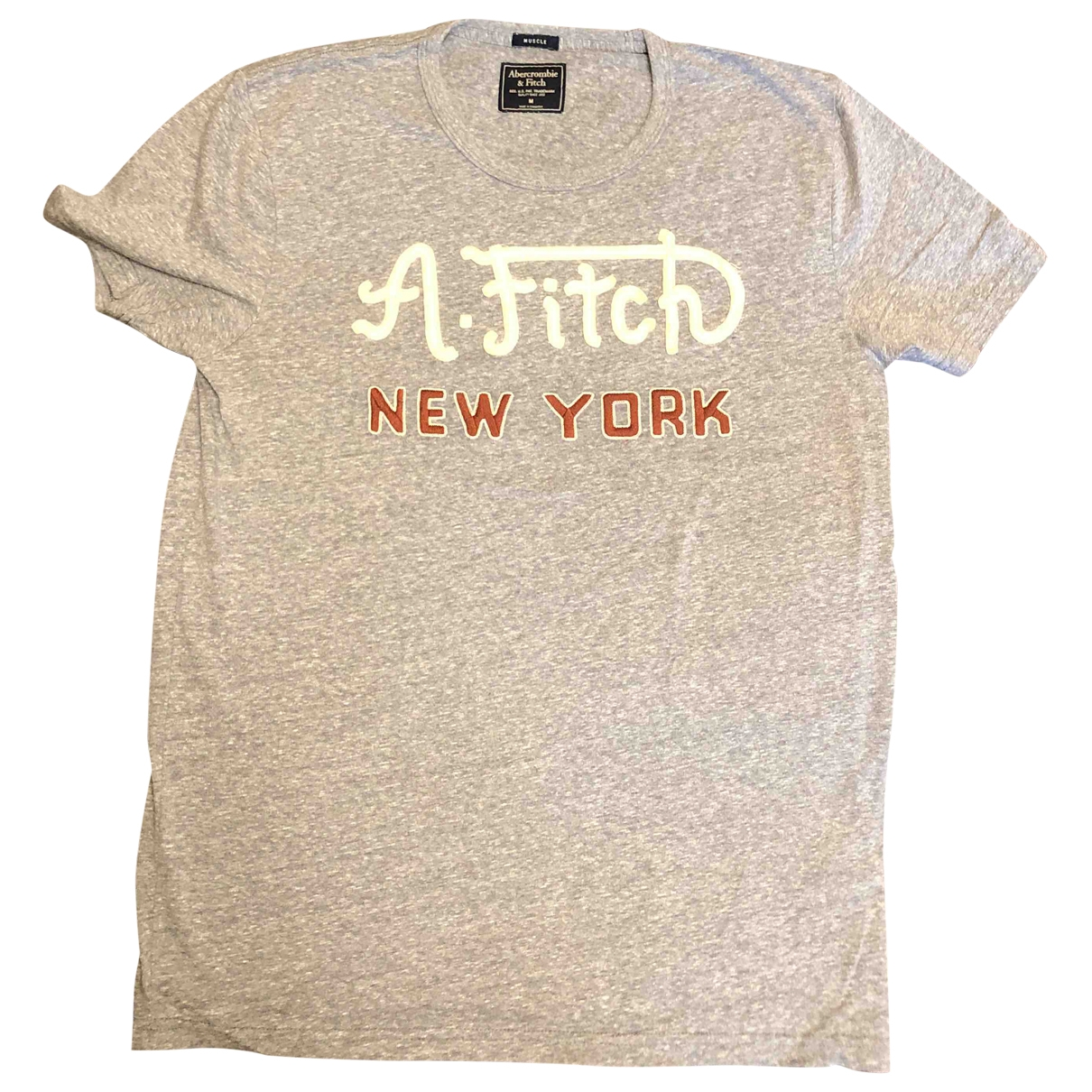 Abercrombie & Fitch \N Grey Cotton T-shirts for Men M International