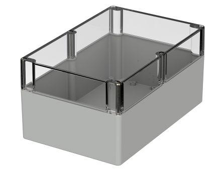 Bopla Euromas, Grey Polycarbonate Enclosure, IP66, Flanged, 240.3 x 160.3 x 120mm