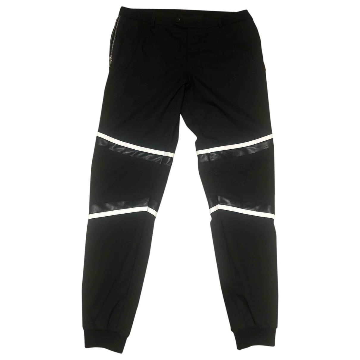 Les Hommes \N Black Wool Trousers for Men 48 IT