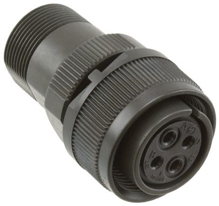JAE Connector, 4 contacts Cable Mount Plug, Solder IP67