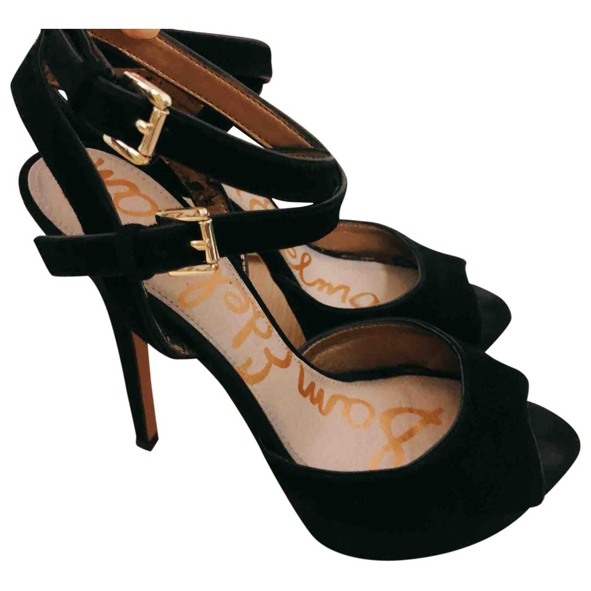 Sam Edelman \N Black Suede Heels for Women 6 US