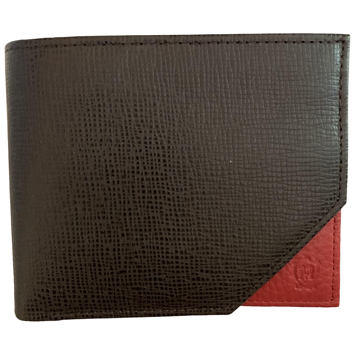 Massimo Dutti \N Brown Leather Small bag, wallet & cases for Men \N