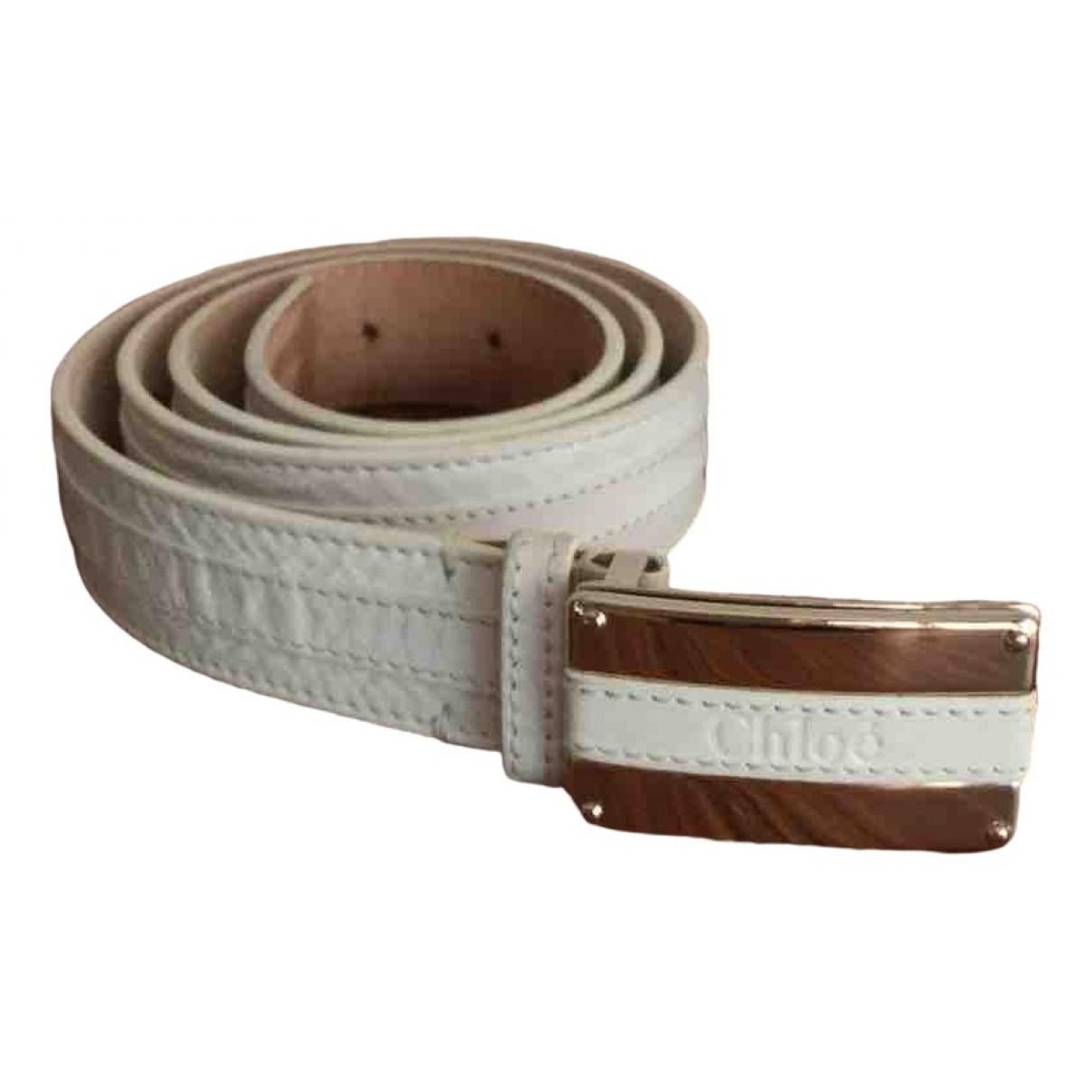 Chloé \N White Leather belt for Women 85 cm