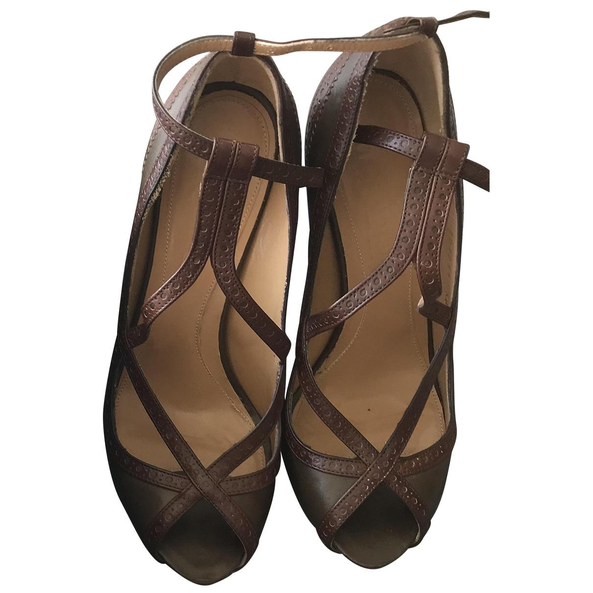 Alexander Mcqueen \N Khaki Leather Heels for Women 38 EU