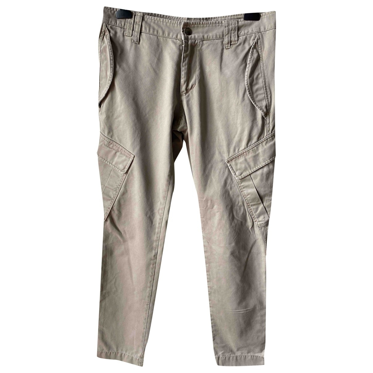 Dondup \N Beige Cotton Trousers for Men 34 UK - US