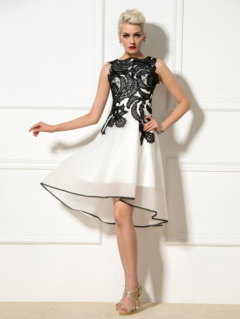 Ericdress A-Line Appliques Asymmetric-Length Cocktail Dress
