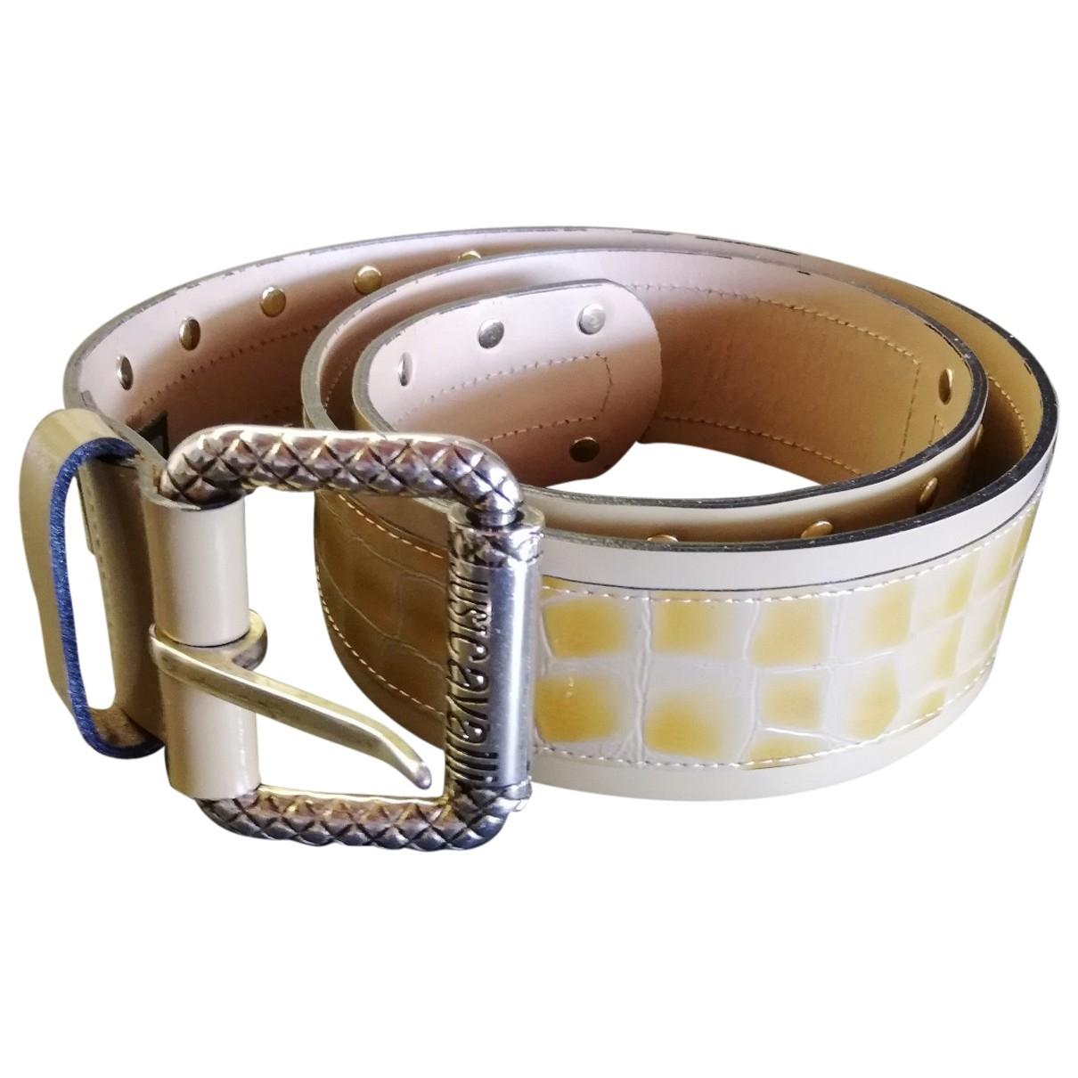 Just Cavalli \N Beige Leather belt for Women 90 cm