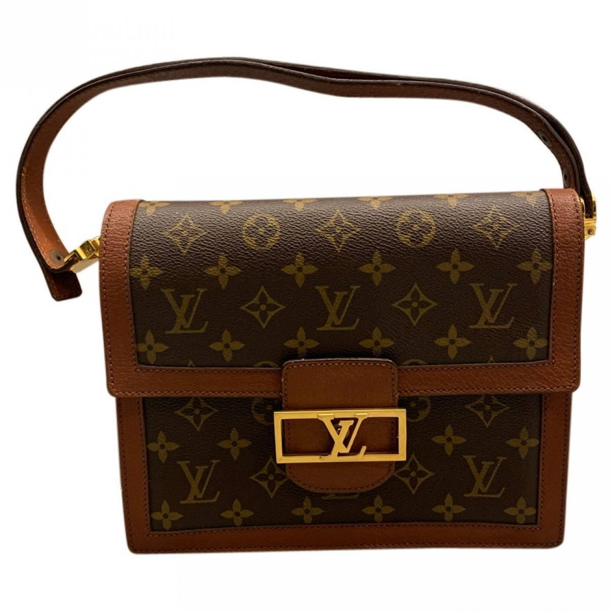 Louis Vuitton Dauphine Vintage Brown Cloth handbag for Women \N