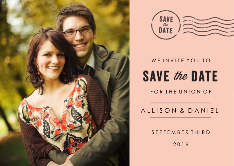 Save the Date Flat Glossy Photo Paper Cards with Envelopes, 5x7, Card & Stationery -Signed Sealed Delivered
