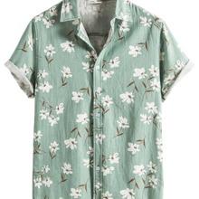 Men Allover Floral Button Up Shirt