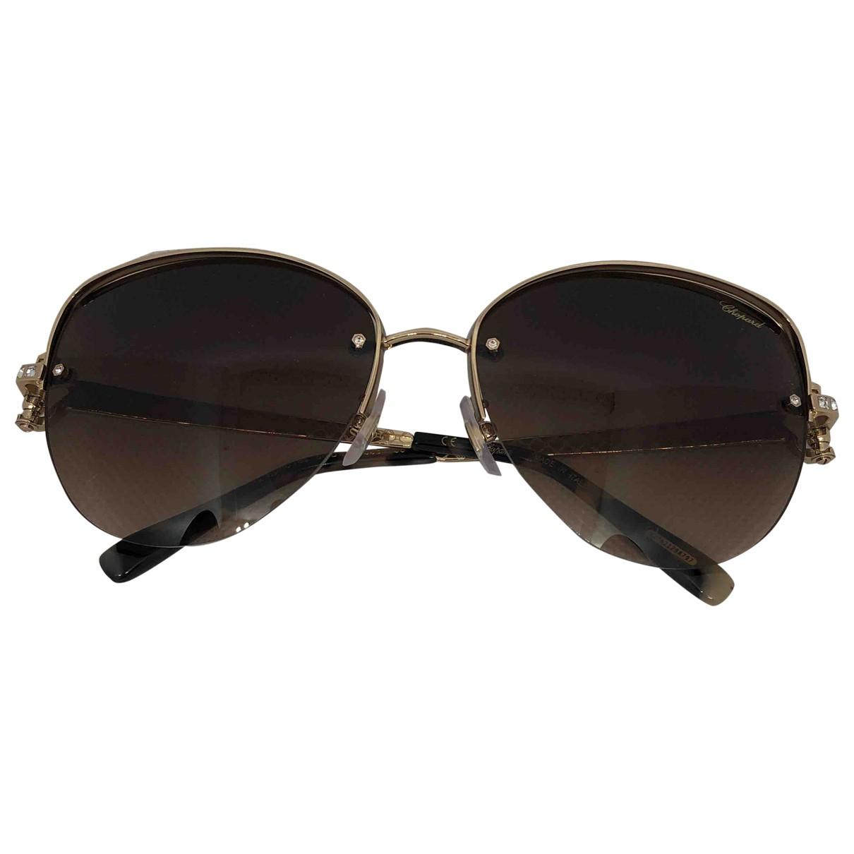 Chopard \N Brown Metal Sunglasses for Women \N