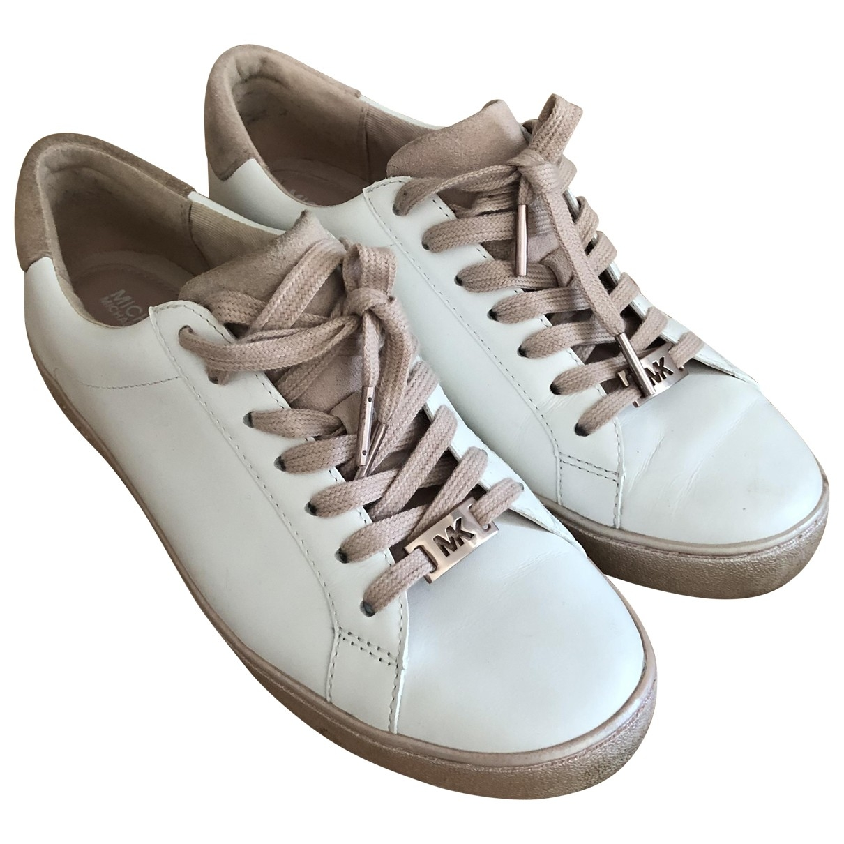Michael Kors \N White Leather Trainers for Women 7.5 US