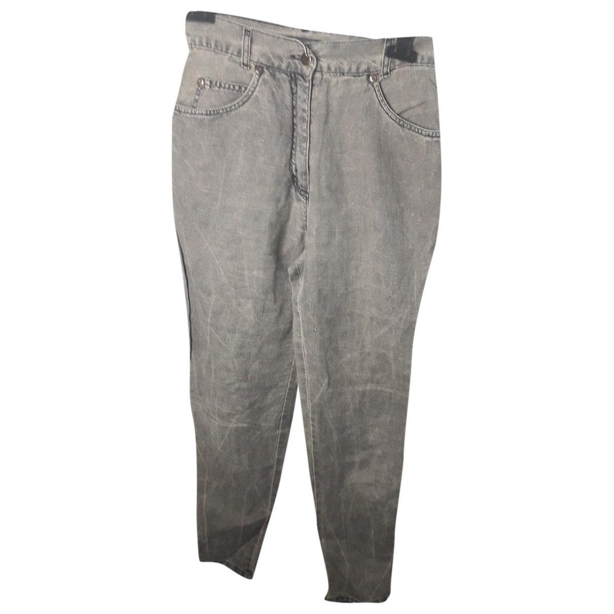 Max Mara Weekend \N Linen Trousers for Women 38 IT