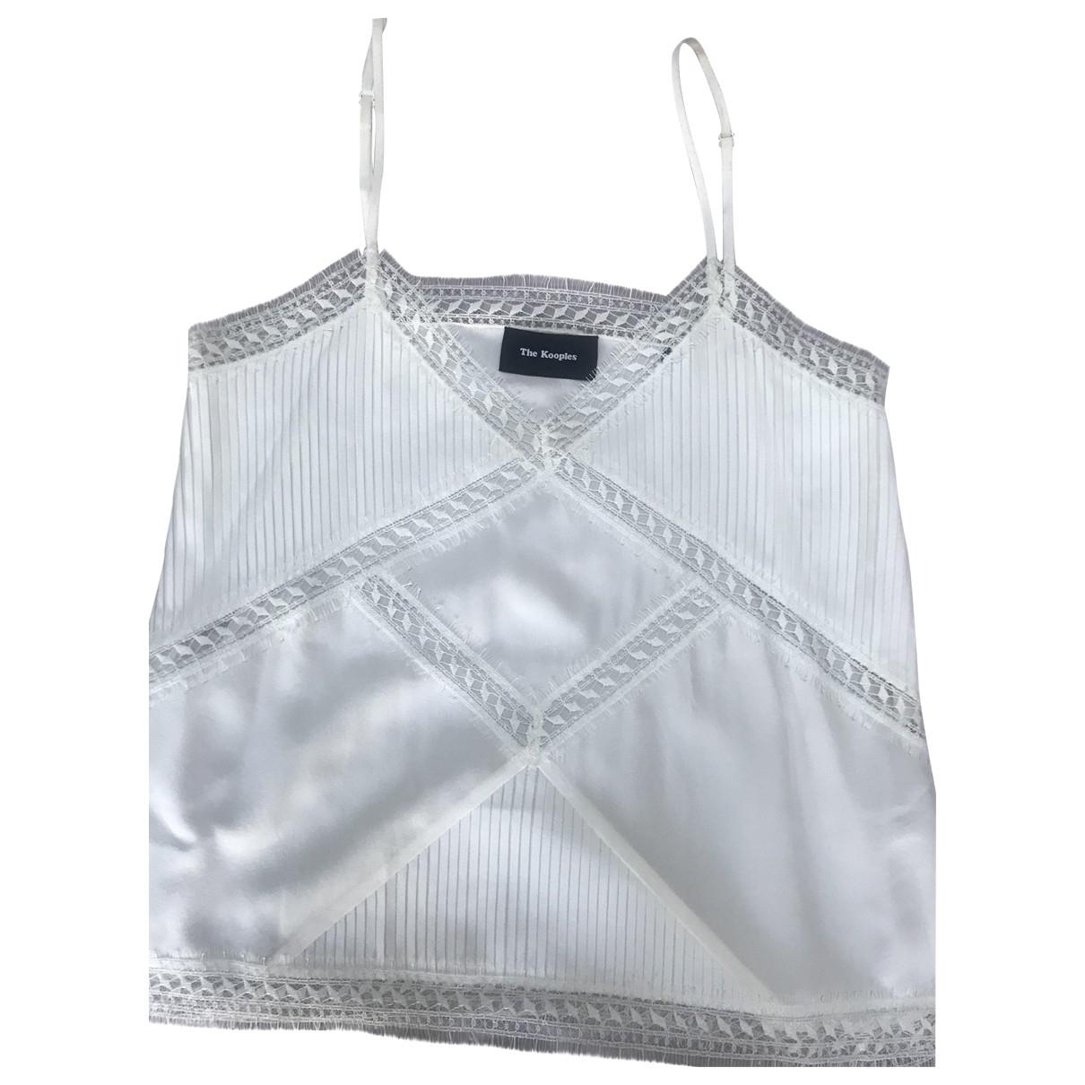 The Kooples \N Ecru Silk  top for Women 36 FR