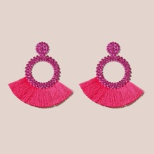 Tassel Decor Drop Earrings