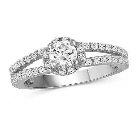 Womens 1 3/4 CT. T.W. White Cubic Zirconia Sterling Silver Engagement Ring, 8 , No Color Family