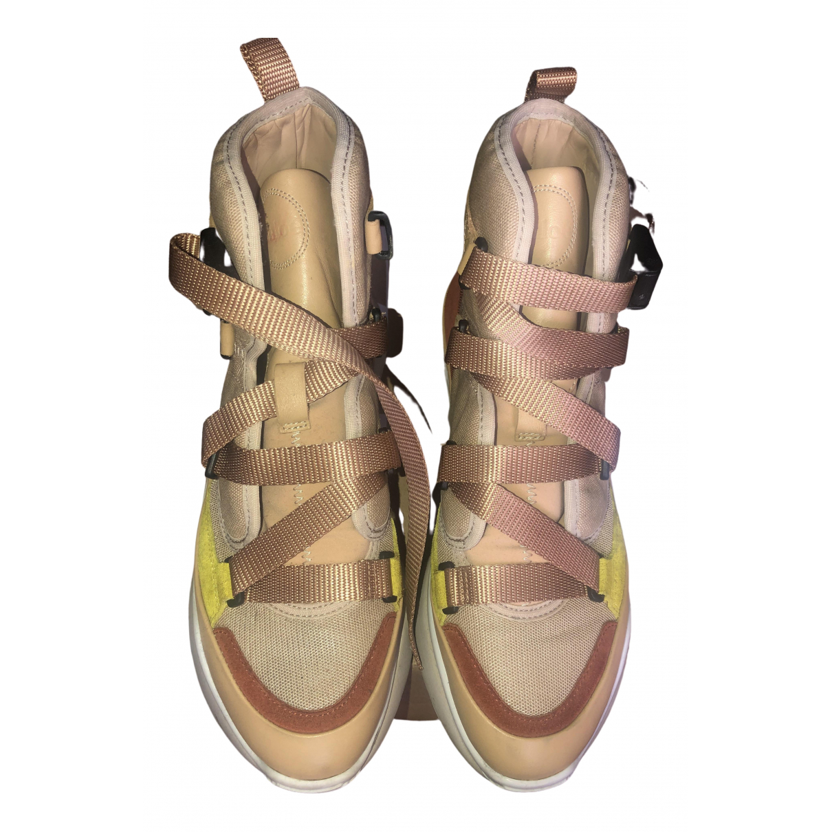 Chloé Sonnie Beige Leather Trainers for Women 39 EU