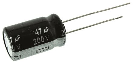 Panasonic 47μF Electrolytic Capacitor 200V dc, Through Hole - ECA2DHG470 (5)