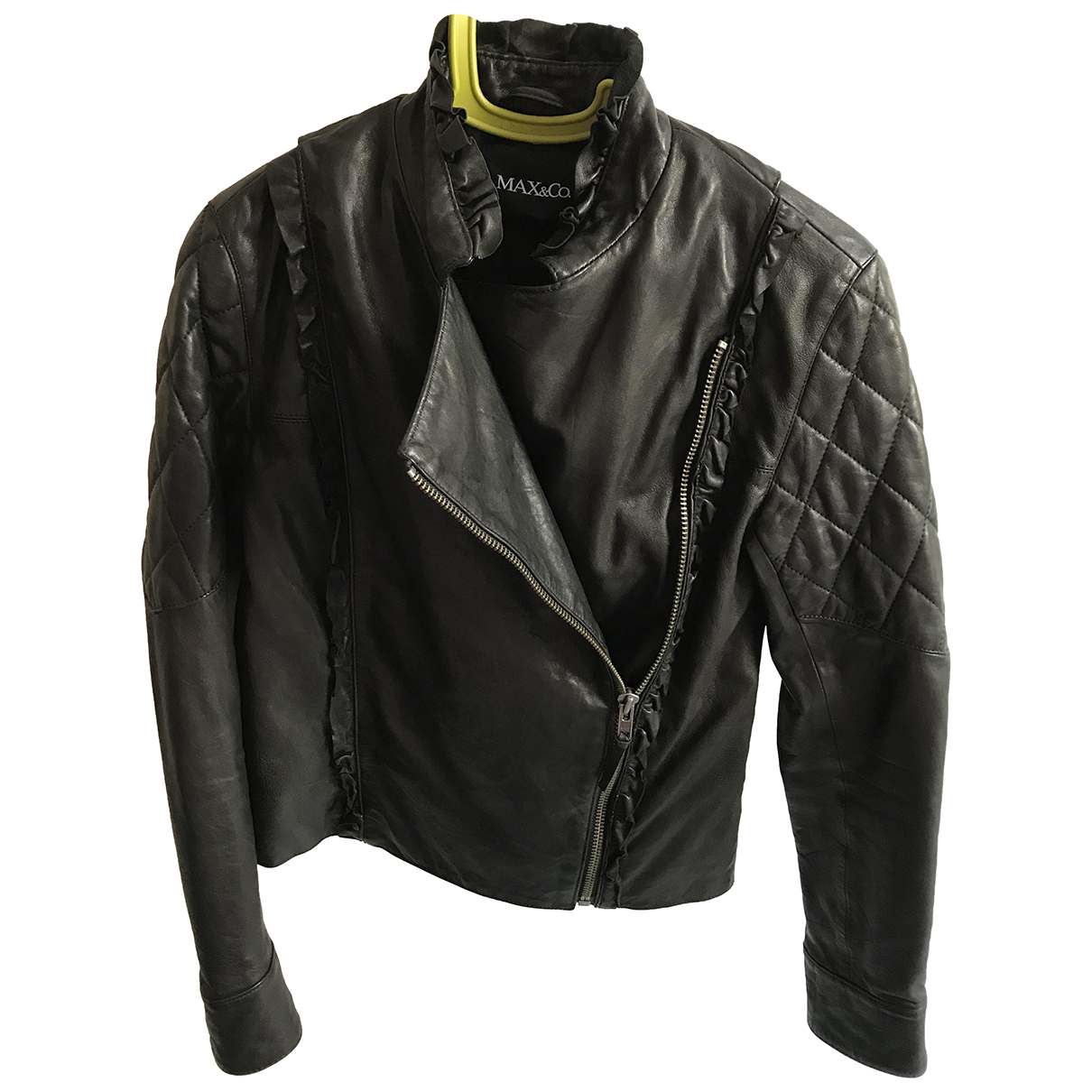Max & Co \N Black Leather jacket for Women 42 IT