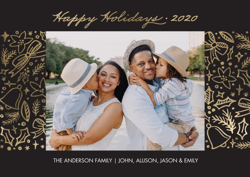 Holiday Photo Cards 5x7 Cards, Standard Cardstock 85lb, Card & Stationery -Holiday 2020 Festive Borders by Tumbalina