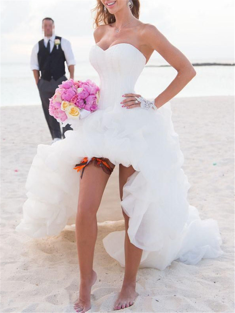 Ericdress Pick-Ups High Low Beach Wedding Dress