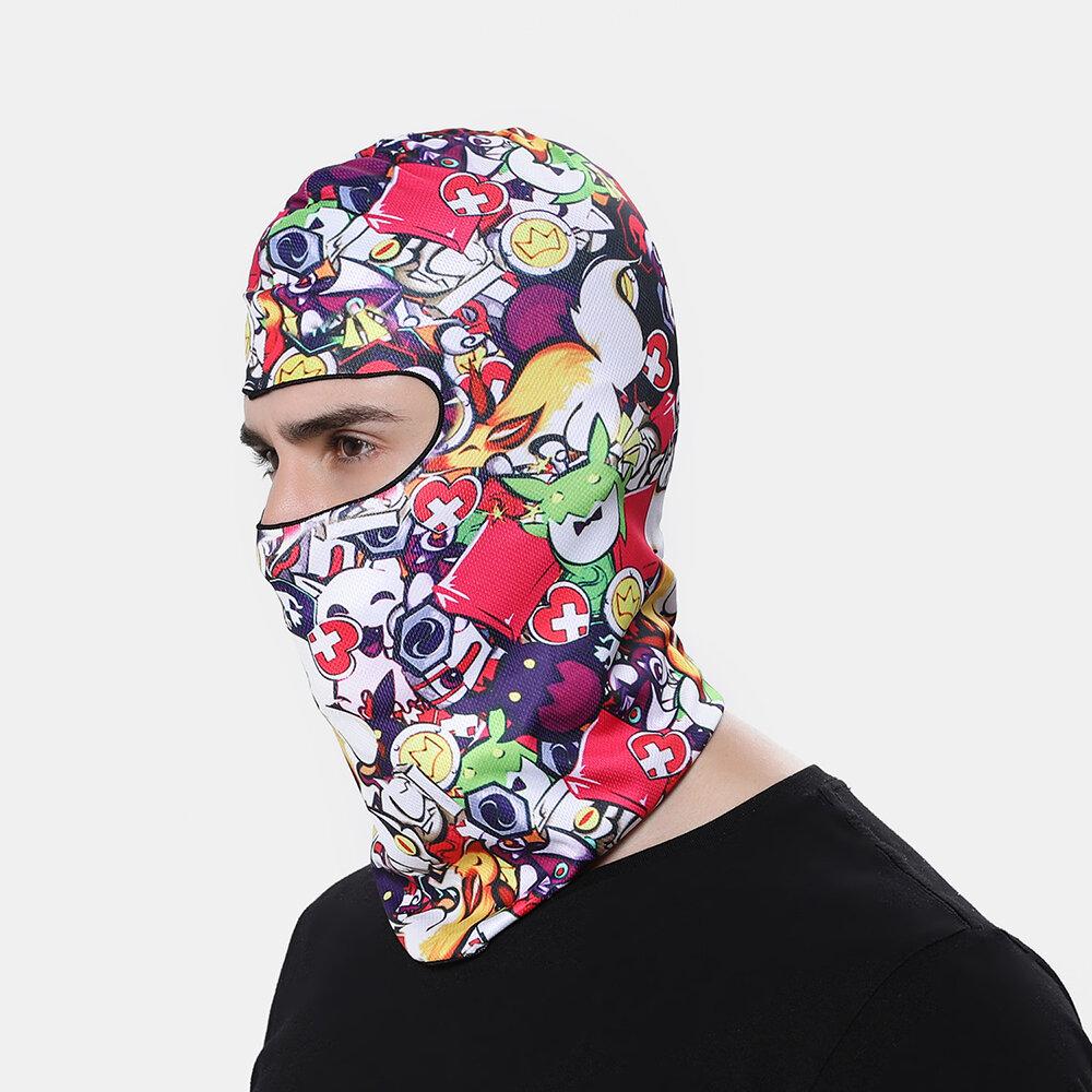 Multi-color Rich Patterns Face Mask Windproof Sunscreen Headgear Dustproof