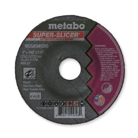 Metabo A60Xp 5 In. x 0.045 In. x 7/8 In. Super Slicer Type 27