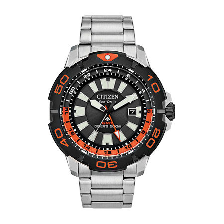Citizen Promaster Gmt Diver Mens Silver Tone Stainless Steel Bracelet Watch-Bj7129-56e, One Size , No Color Family