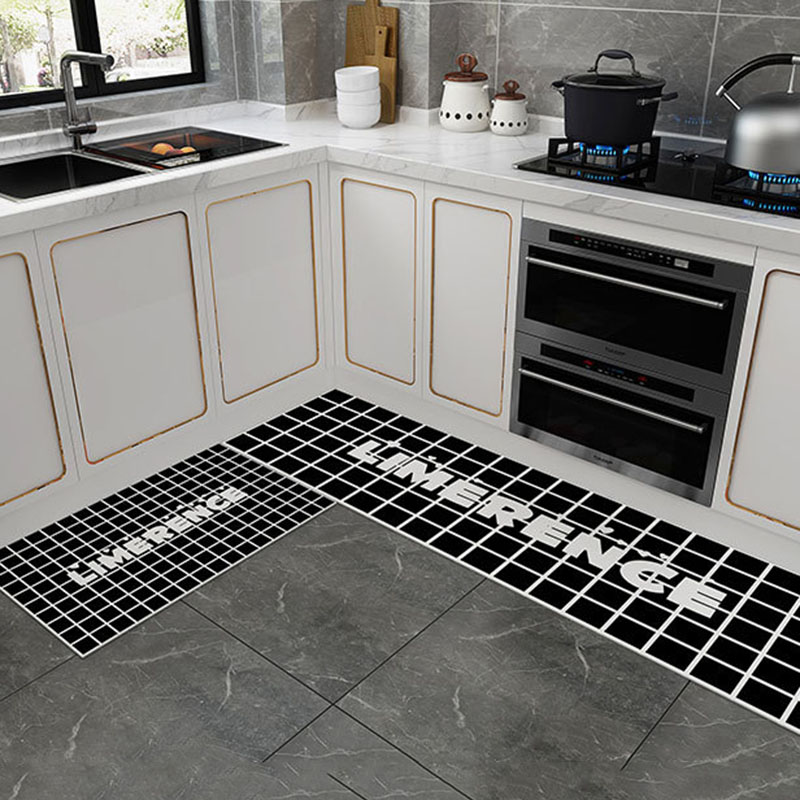 Rectangle Cartoon Pattern Skid Resistance Carpets Super Soft Water Absorption Non-slip Kitchen Mat PVC Material