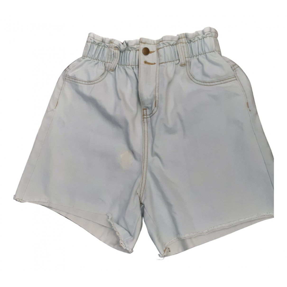 Non Signé / Unsigned \N Blue Cotton Shorts for Women M International