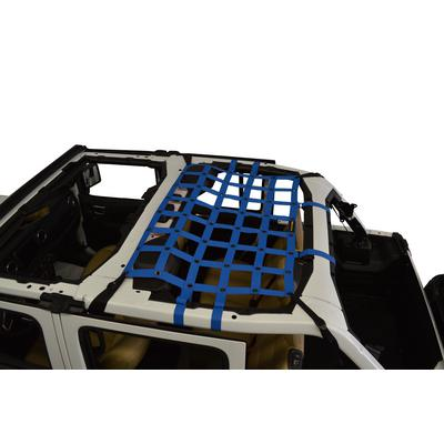 DirtyDog 4x4 Rear Seat Netting (Blue) - JL4N18M1BL