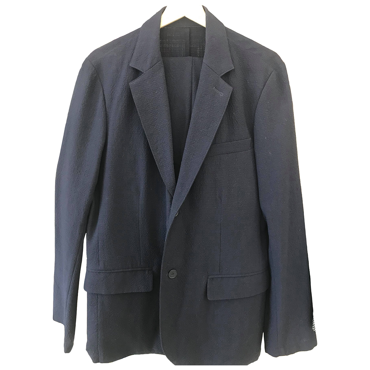Agn??s B. \N Navy Wool Suits for Men 50 FR