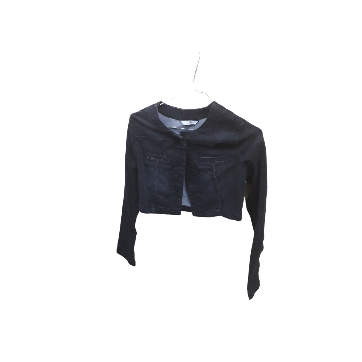 Liu.jo \N Black Cotton Leather jacket for Women 42 IT