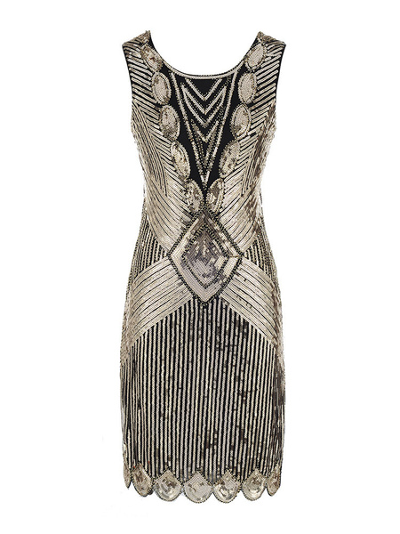 Milanoo Flapper Dress Great Gatsby 1920s Fashion Outfits Women Shiny Silver Charleston Dresses Halloween Vintage 20s Party Dress