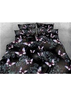 Romantic 3D Butterfly Print 5-Piece Comforter Sets