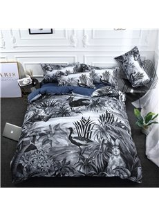 Animals in The Bush Digital Printing Polyester 3D 4-Piece Bedding Sets/Duvet Covers