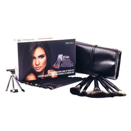 32 Piece Professional Make-Up Brush Set In Black With Travel Case - ZOË AYLA