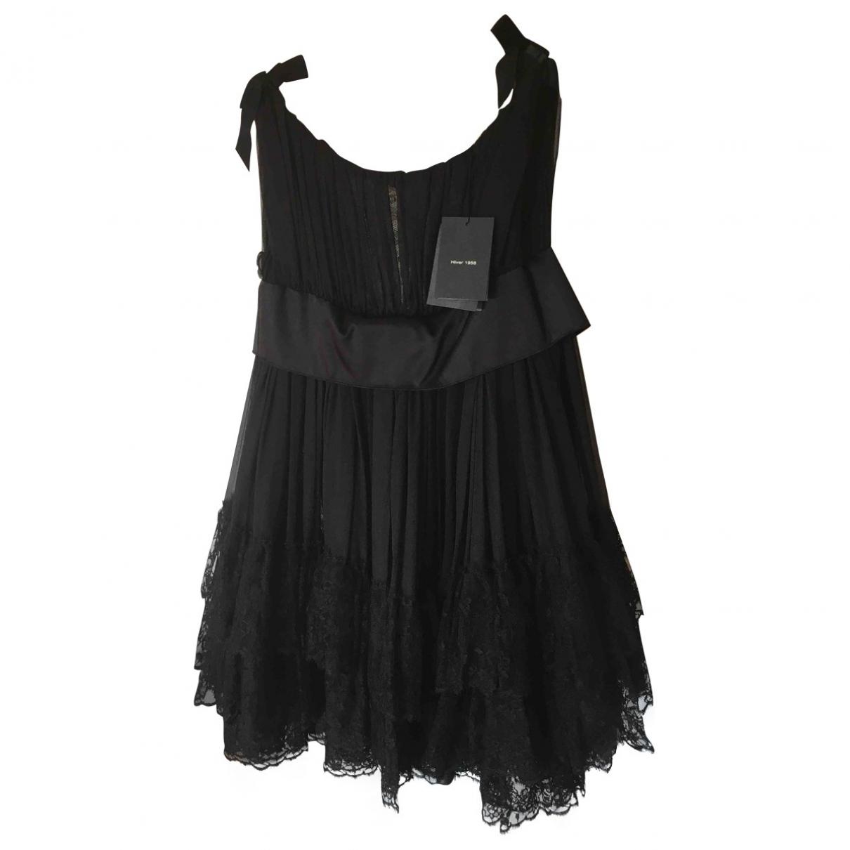 Balenciaga \N Black Silk dress for Women 38 FR