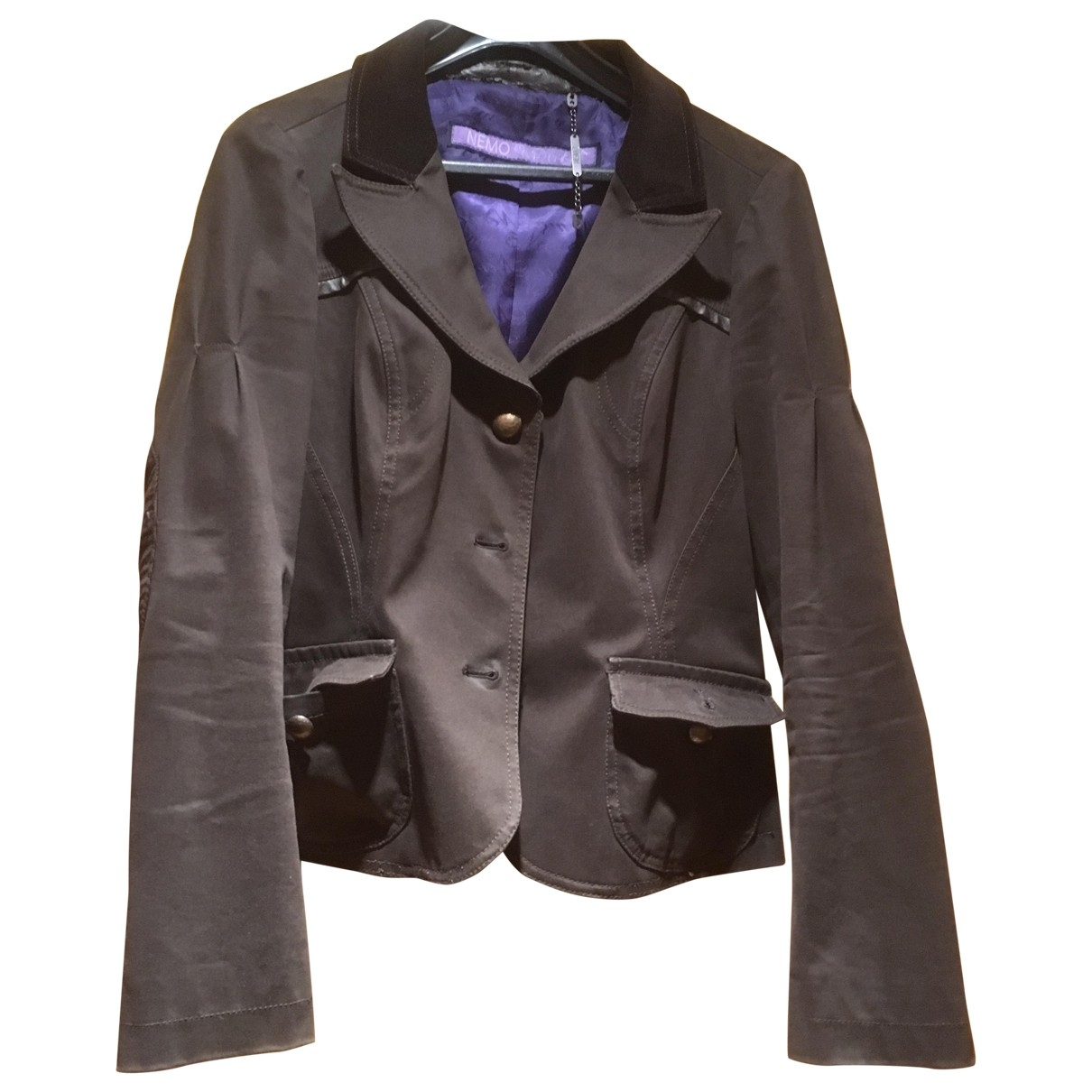 Non Signé / Unsigned \N Brown Cotton jacket for Women 42 IT