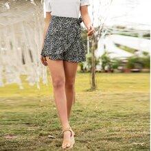 Dalmatian Print Tie Wrap Skirt