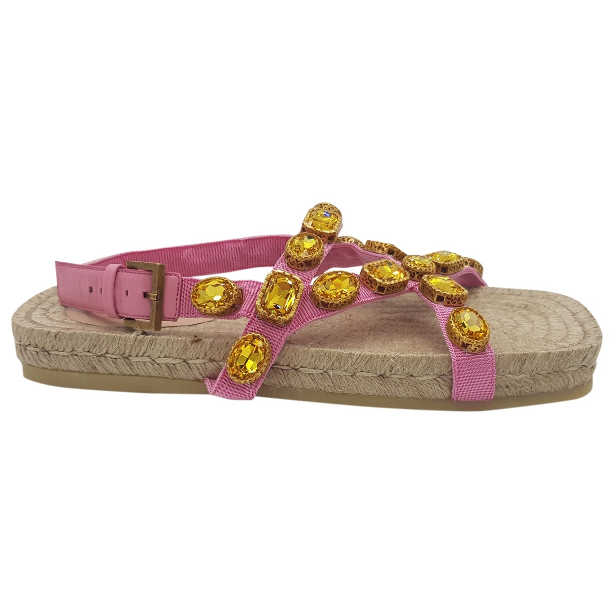 Gucci \N Pink Cloth Sandals for Women 34 EU