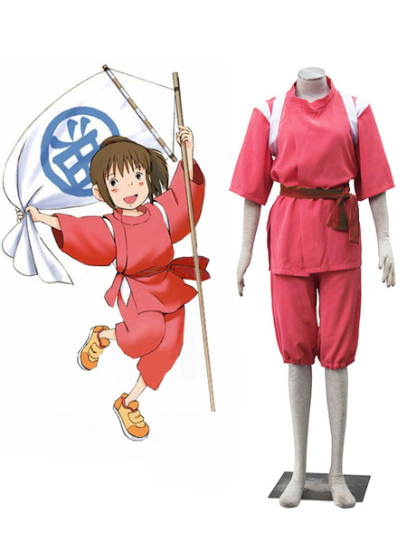 Milanoo Spirited Away Cosplay Ogino Chihiro Suit Shounen Cosplay Costume