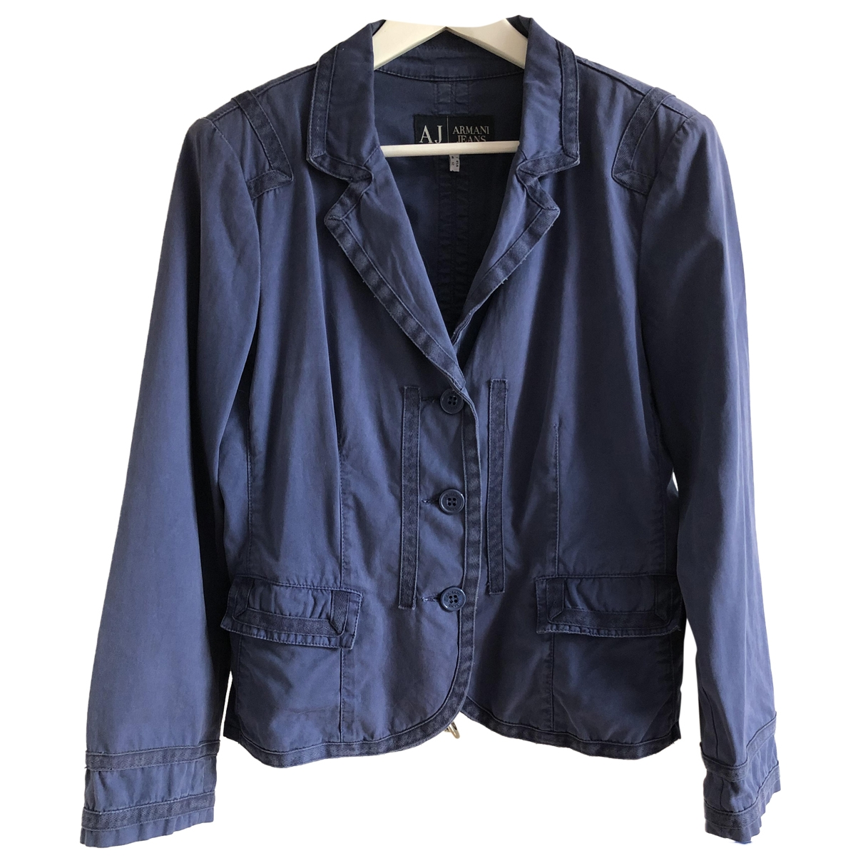 Armani Jeans \N Blue Cotton jacket for Women 12 UK