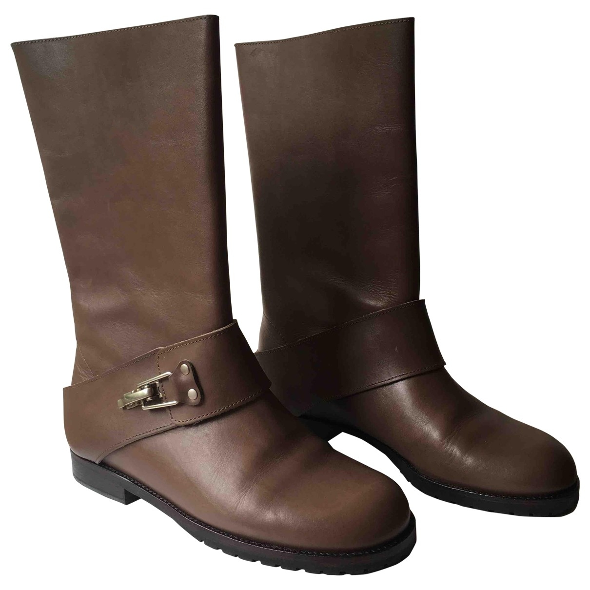 See By Chloé \N Brown Leather Boots for Women 39.5 EU