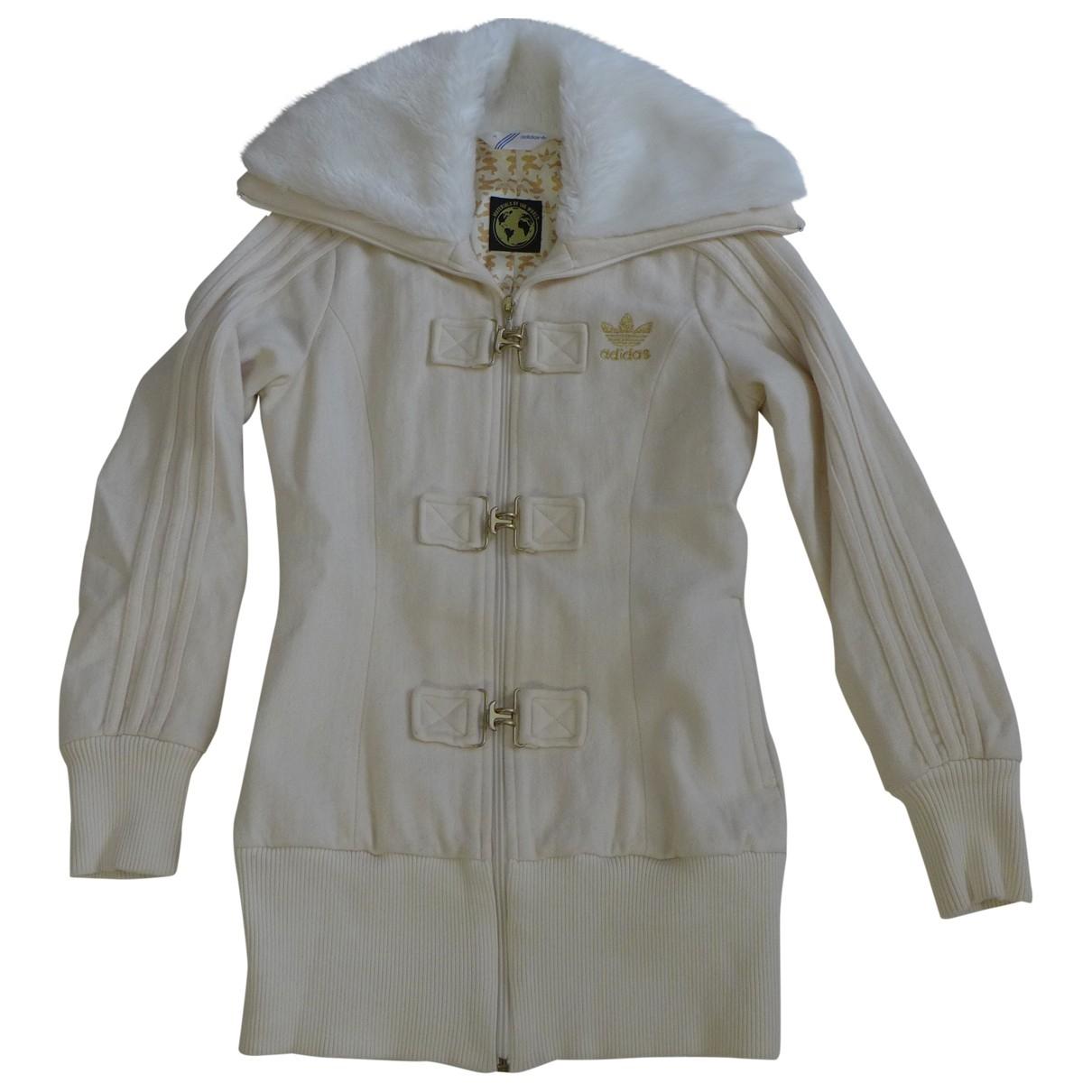 Adidas \N Ecru Wool Leather jacket for Women 36 FR
