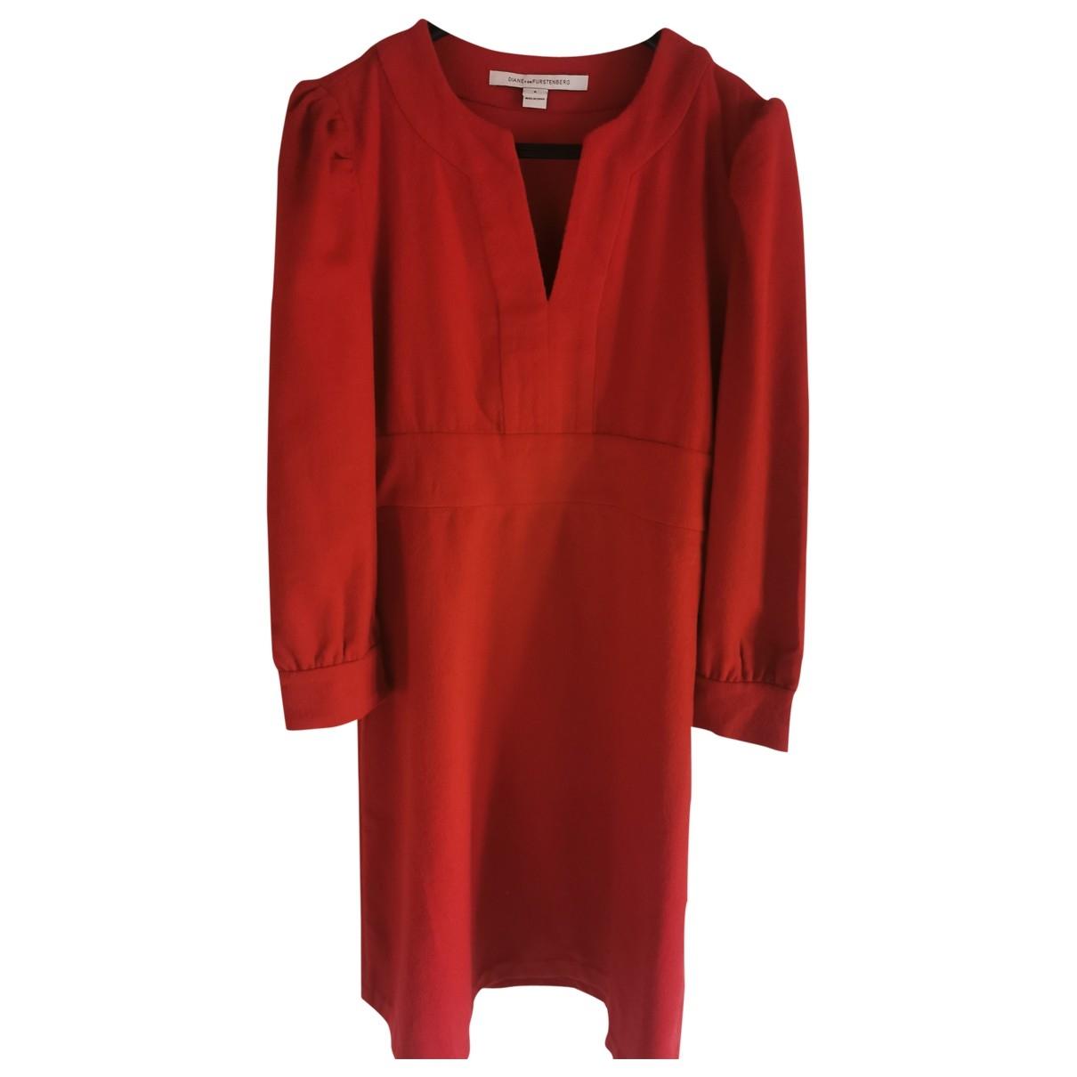 Diane Von Furstenberg \N Red Wool dress for Women 4 US