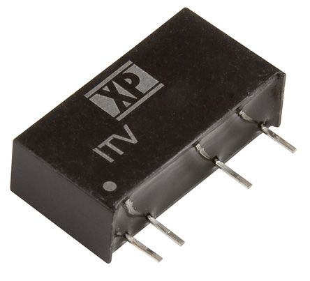 XP Power ITV 1W Isolated DC-DC Converter Through Hole, Voltage in 4.5 → 5.5 V dc, Voltage out ±15V dc