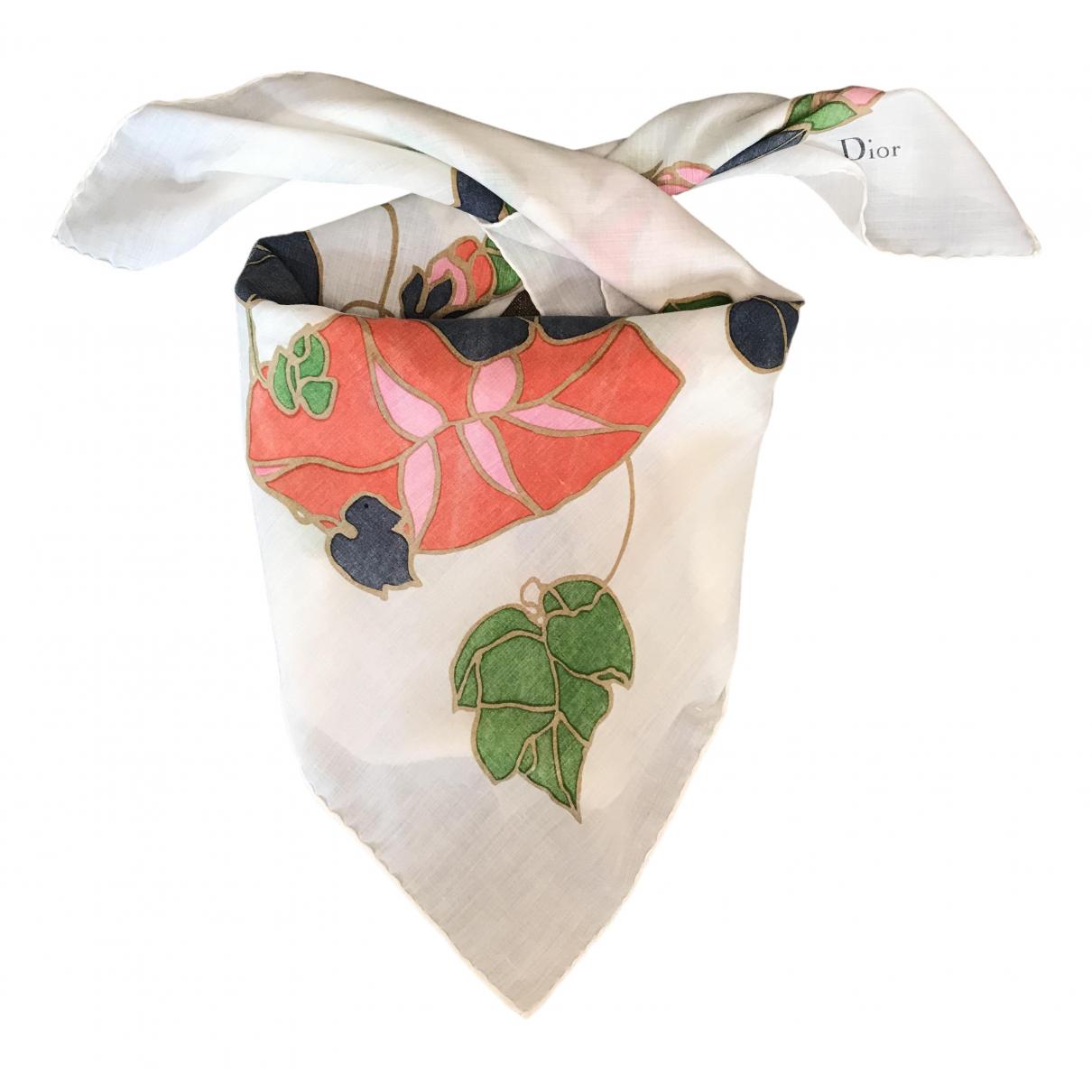 Dior \N Multicolour Cotton Silk handkerchief for Women \N