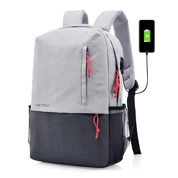 Polyester USB Charging 16 inches Laptop Bag Backpack For Men Women